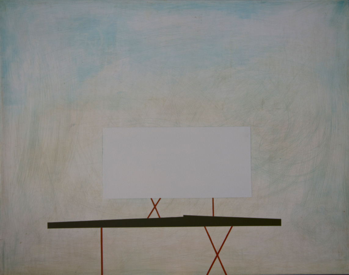 "Sign # 2, oil on panel, 2013; 15""x19"""