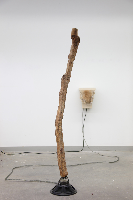 Of Walking In Ice, 2010, wood, steel, electronic components, sound