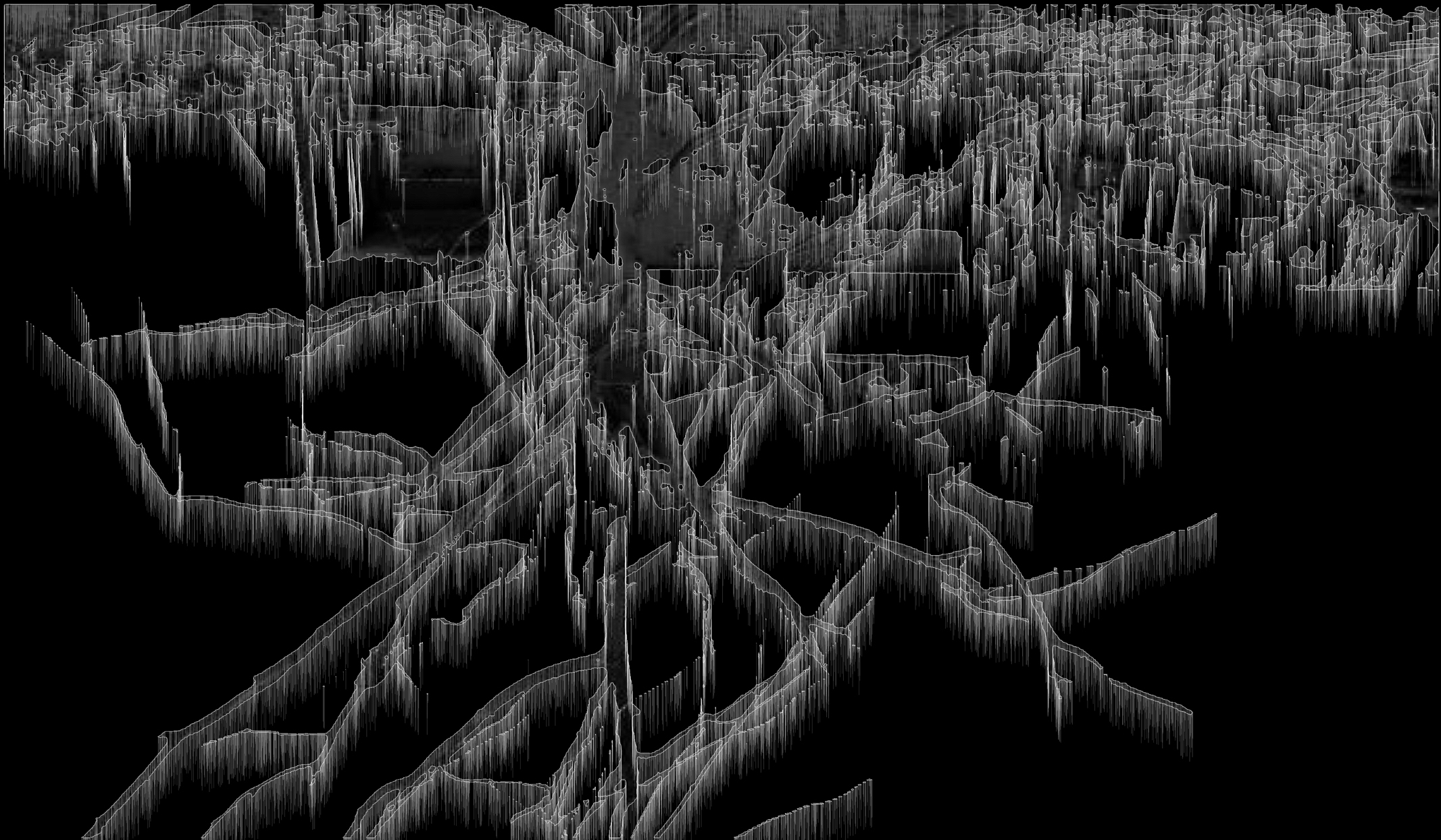From a Static to Oscilliatory State (and Back Again), 2013, software generated digital archival print 1/9