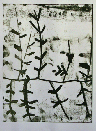 Untitled (floral)   lithograph