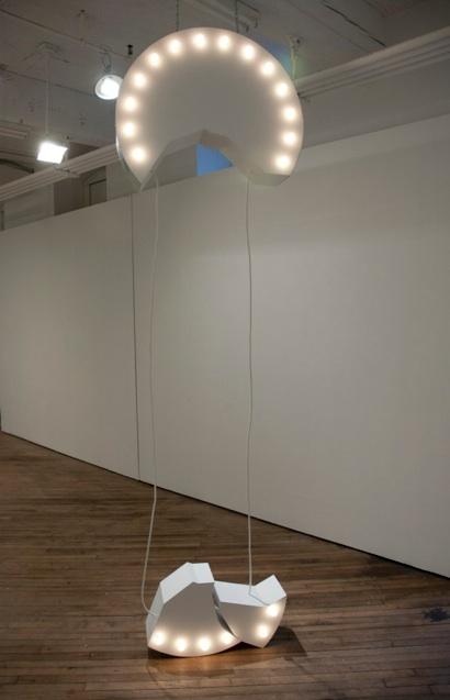 Ron Lambert,    Said Something    wood, steel, plaster, lights    2011