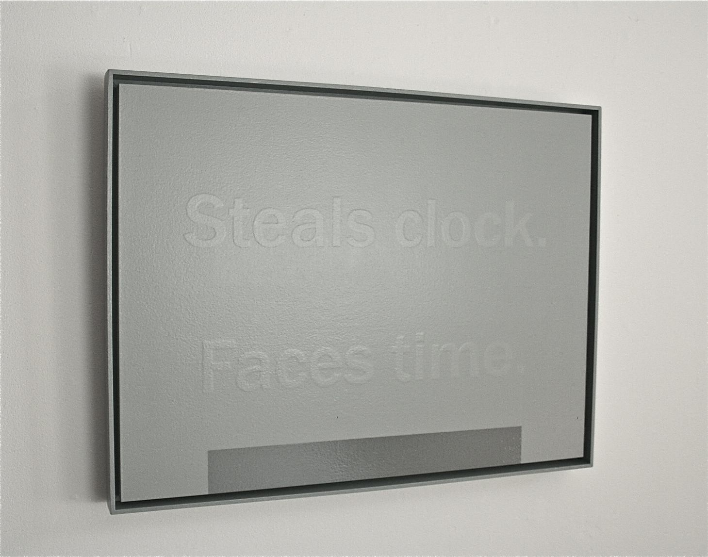 Patrick DeGuira, Steals Clock. Faces Time 2012