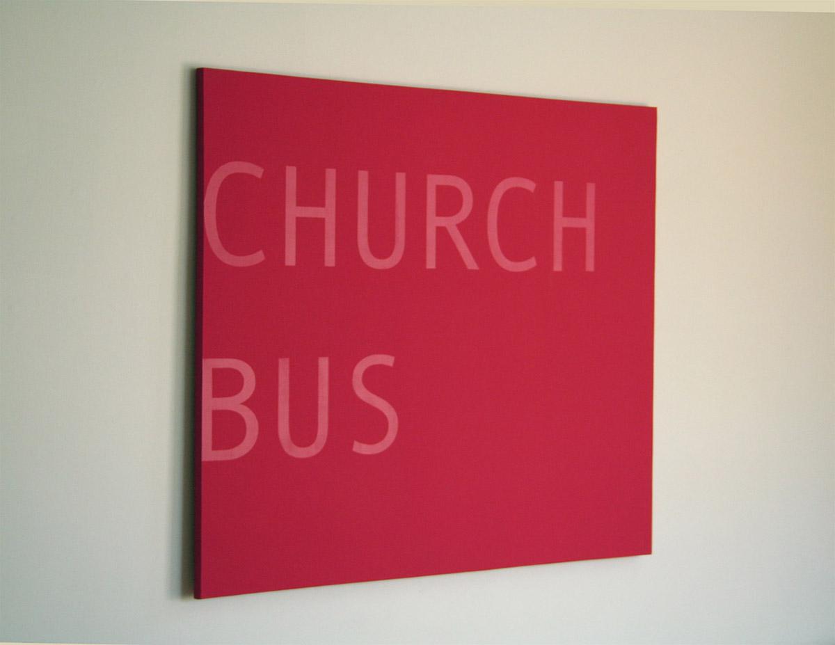 Patrick DeGuira, Church Bus  2011, acrylic on canvas