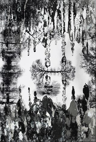Hans Schmitt-Matzen, Aerial Maneuver 6    2011, oil on C-Print