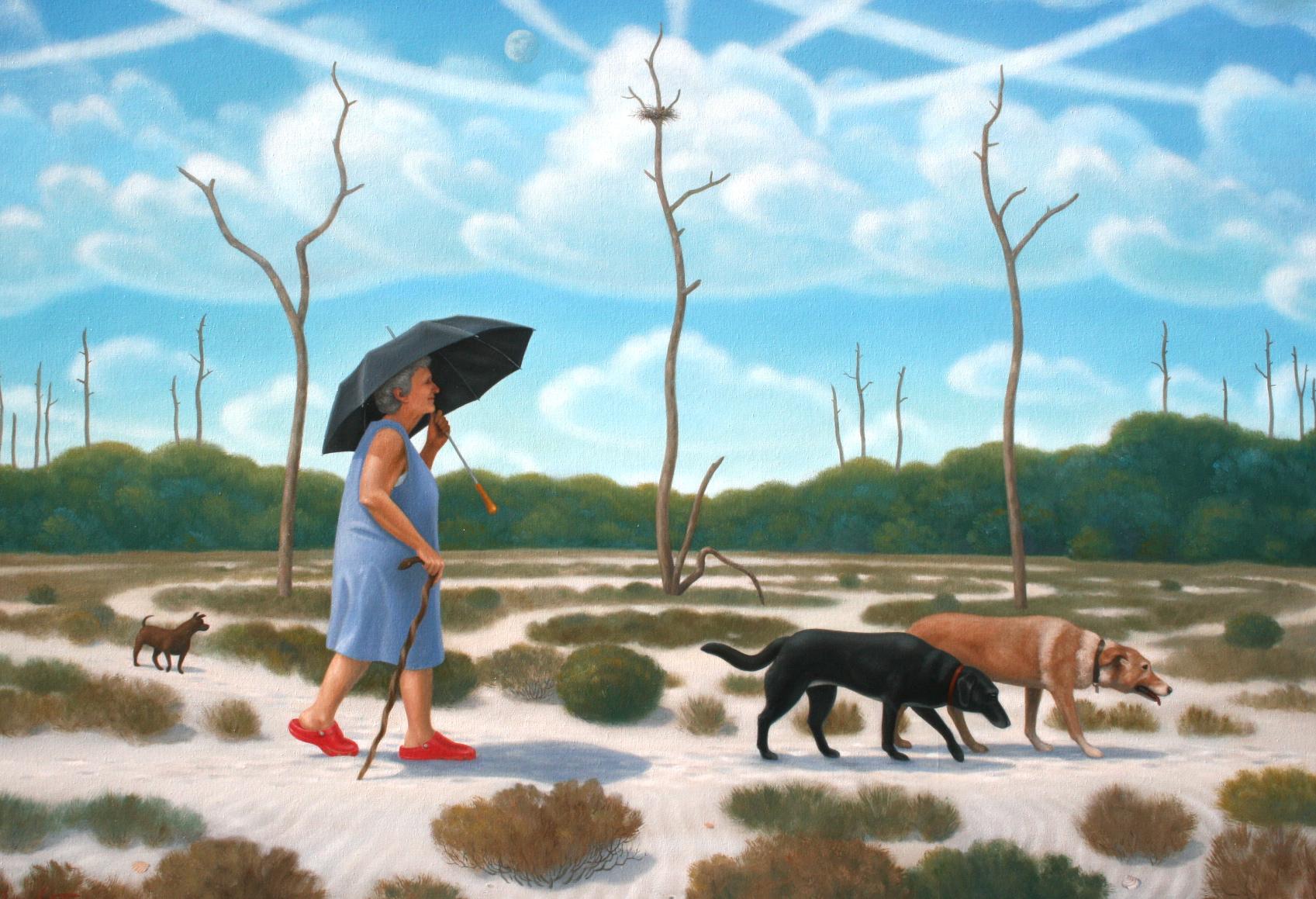 Terry Rowlett, The Pilgrim's Progress   2011, oil on canvas