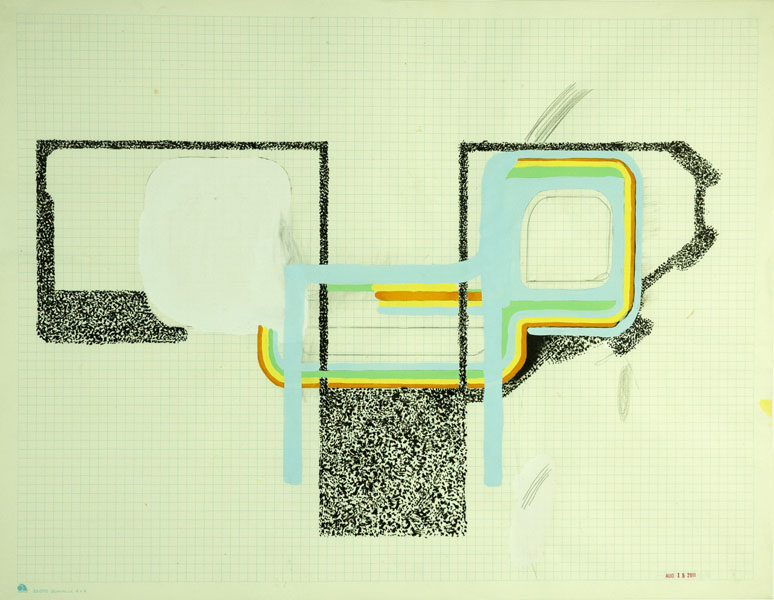Brady Haston, August Drawing 3   2011, mixed media on paper