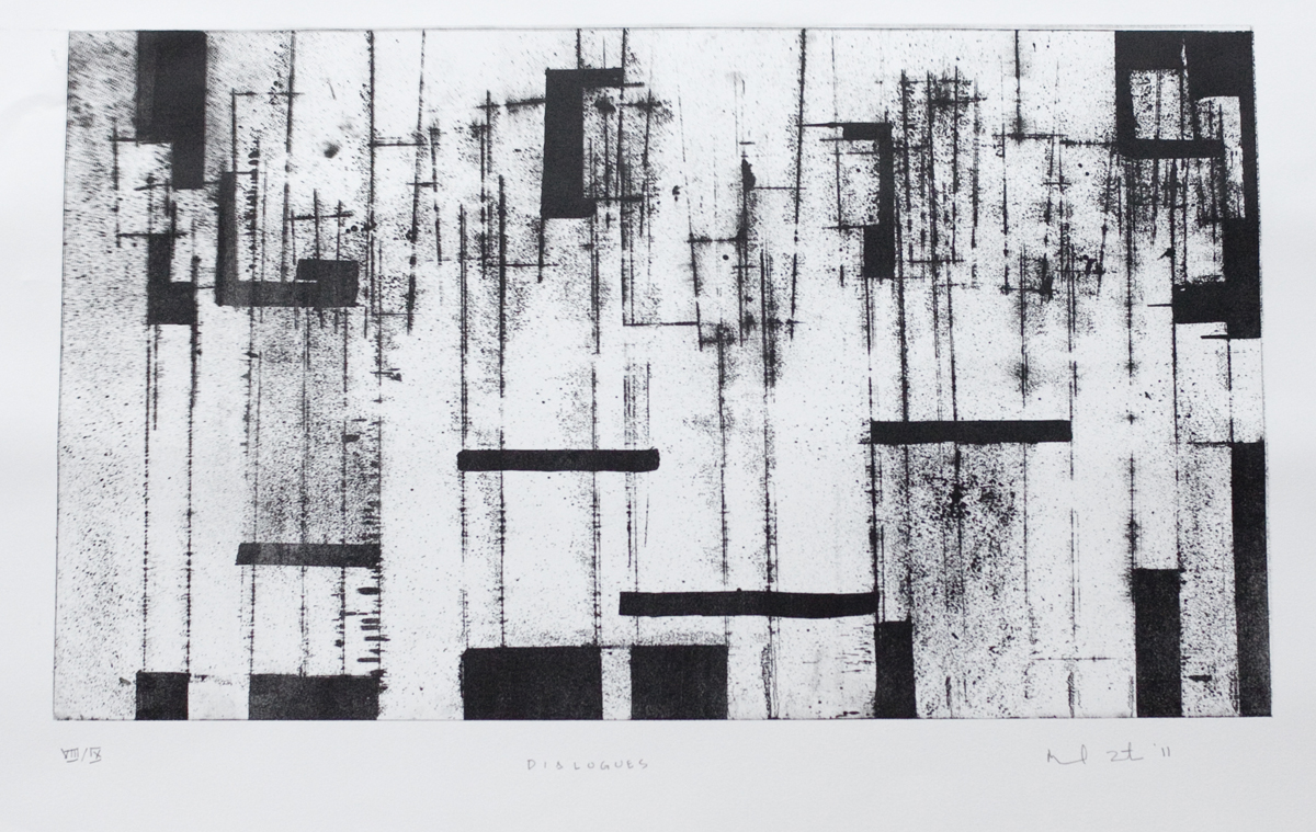 Manuel Zeiltin, Dialogues  2011, lithograph on Rives BFK Arches paper