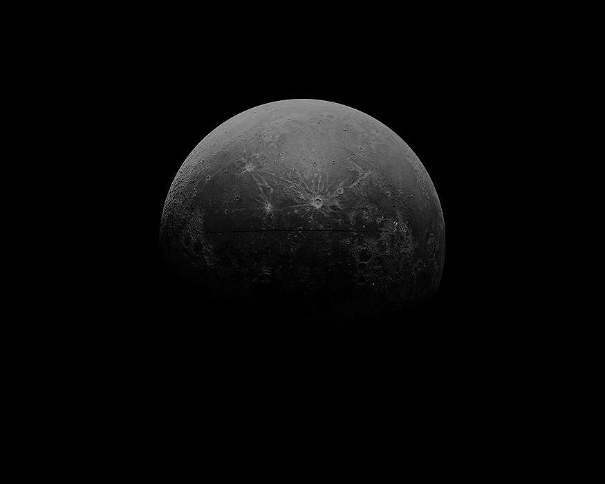 "Chris Scarborough, Moon  2012-13, Archival digital print, 30 x 37.5"""