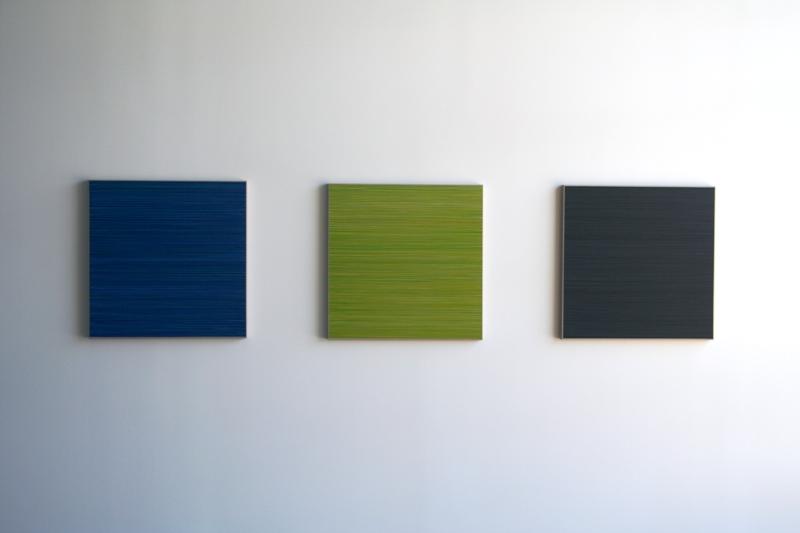 "Lars Strandh, untitled   2013, acrylic on linen, 27 x 27"""