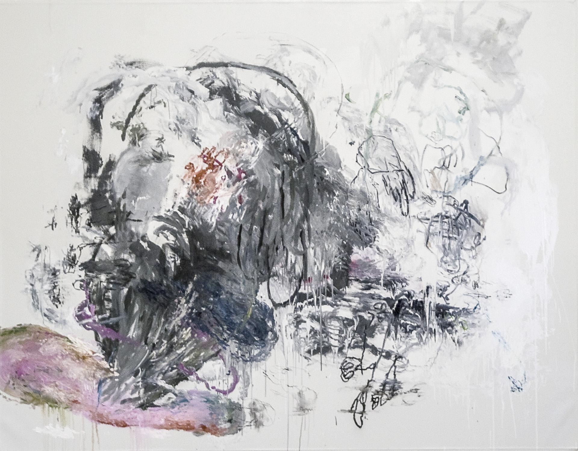 Tim Hussey, Bathos 1, oil, mixed media on canvas