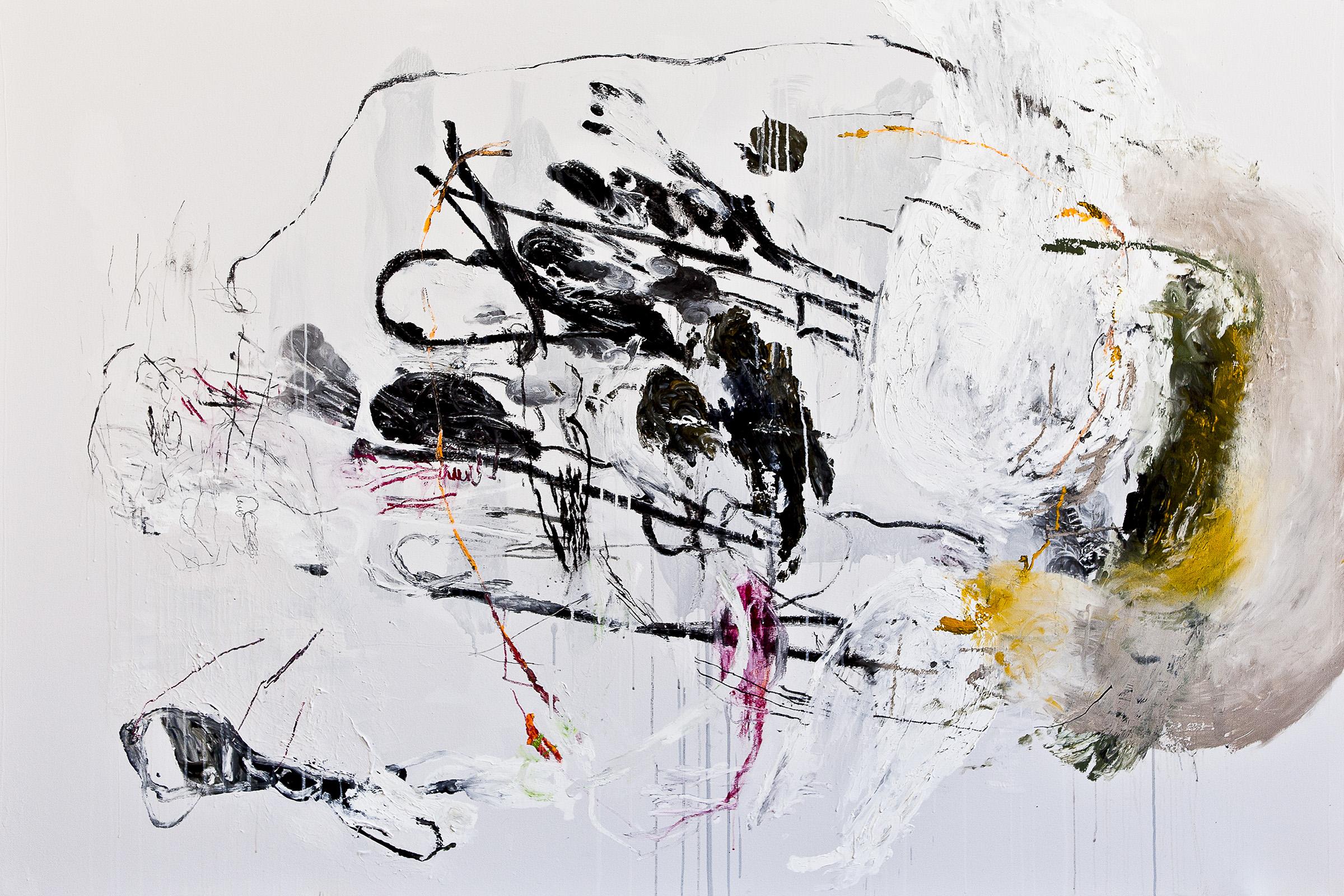 Tim Hussey, Bathos 53, oil, mixed media on canvas