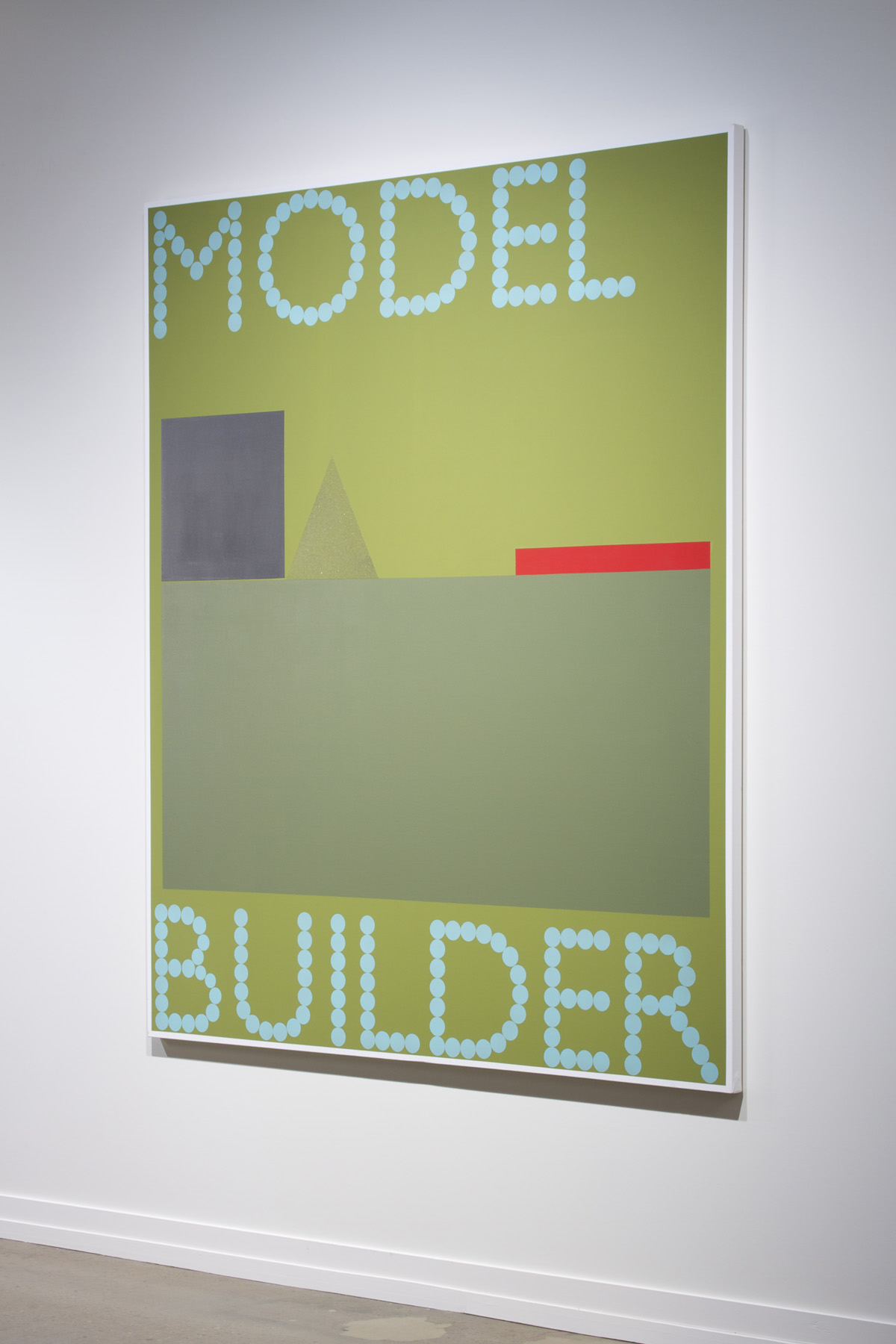 "Model Builder  2013, acrylic on canvas, 72"" x 60"""