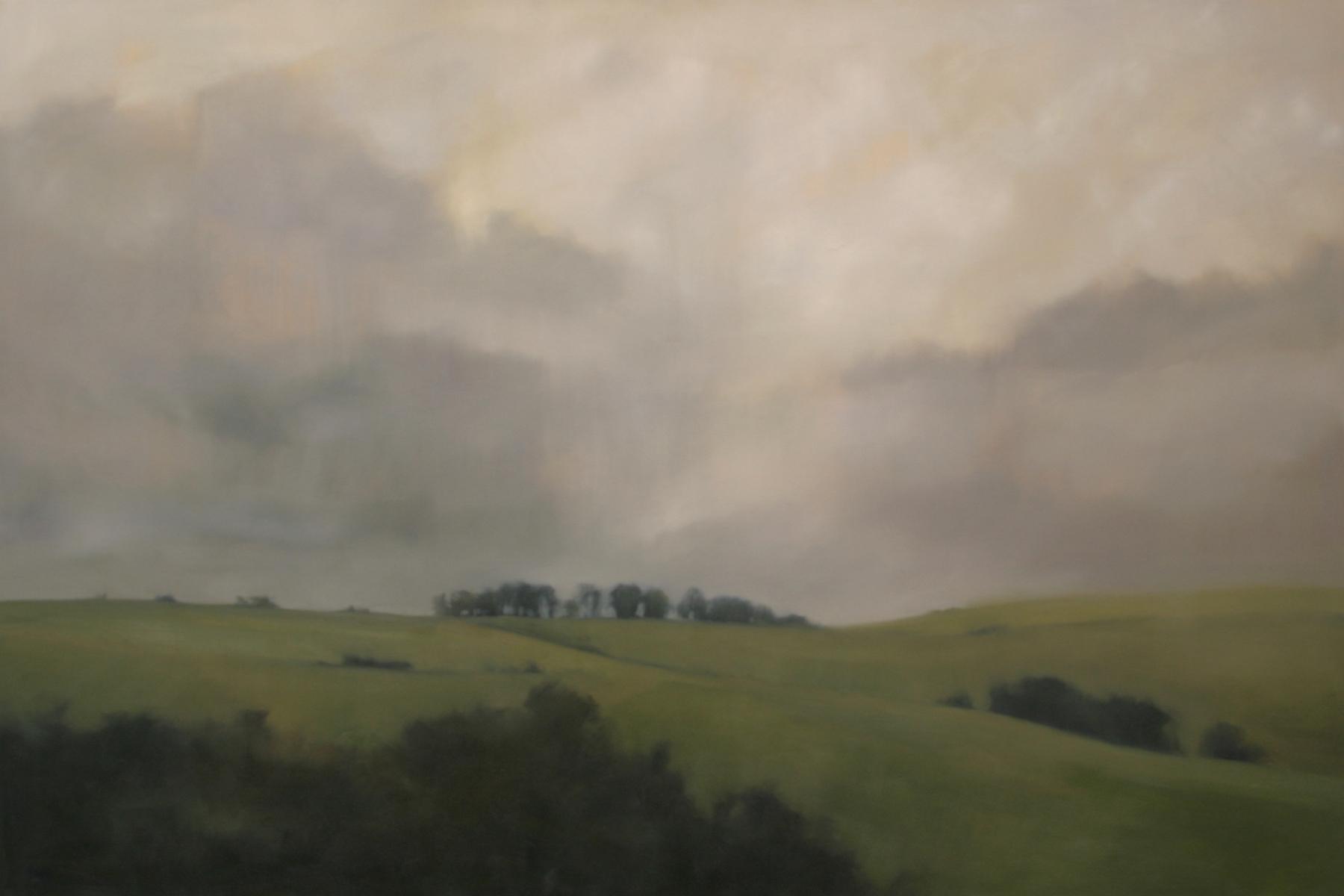 "Distant Ridge   2013, oil on canvas, 48""x72"""