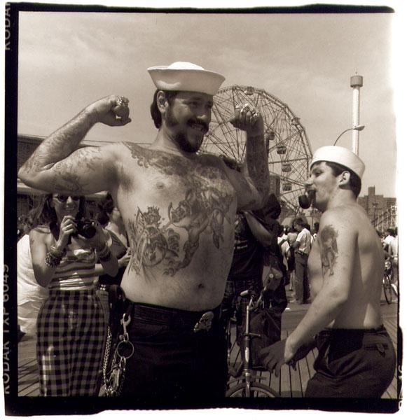 Big Moe and Little Joe, Coney Island NY, 1987