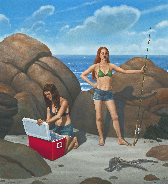 "The Shoreline, 2013, oil on canvas, 40""x37"""