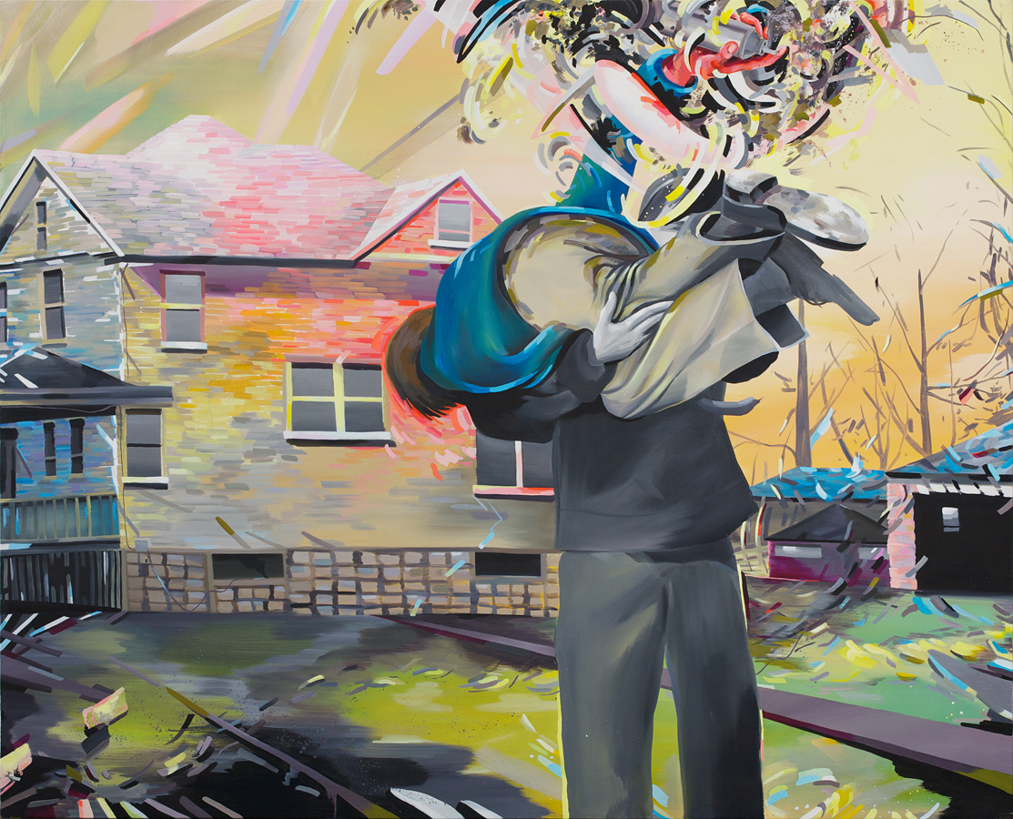 "Thrown Fore, 2011, oil on canvas, 72""x90"""