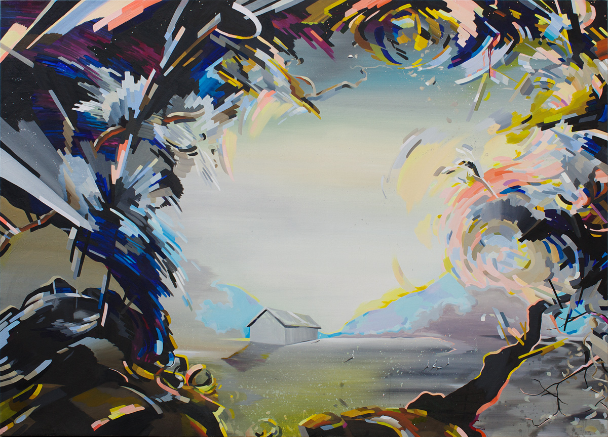 "Clearing, 2013, oil on canvas, 72""x104"""