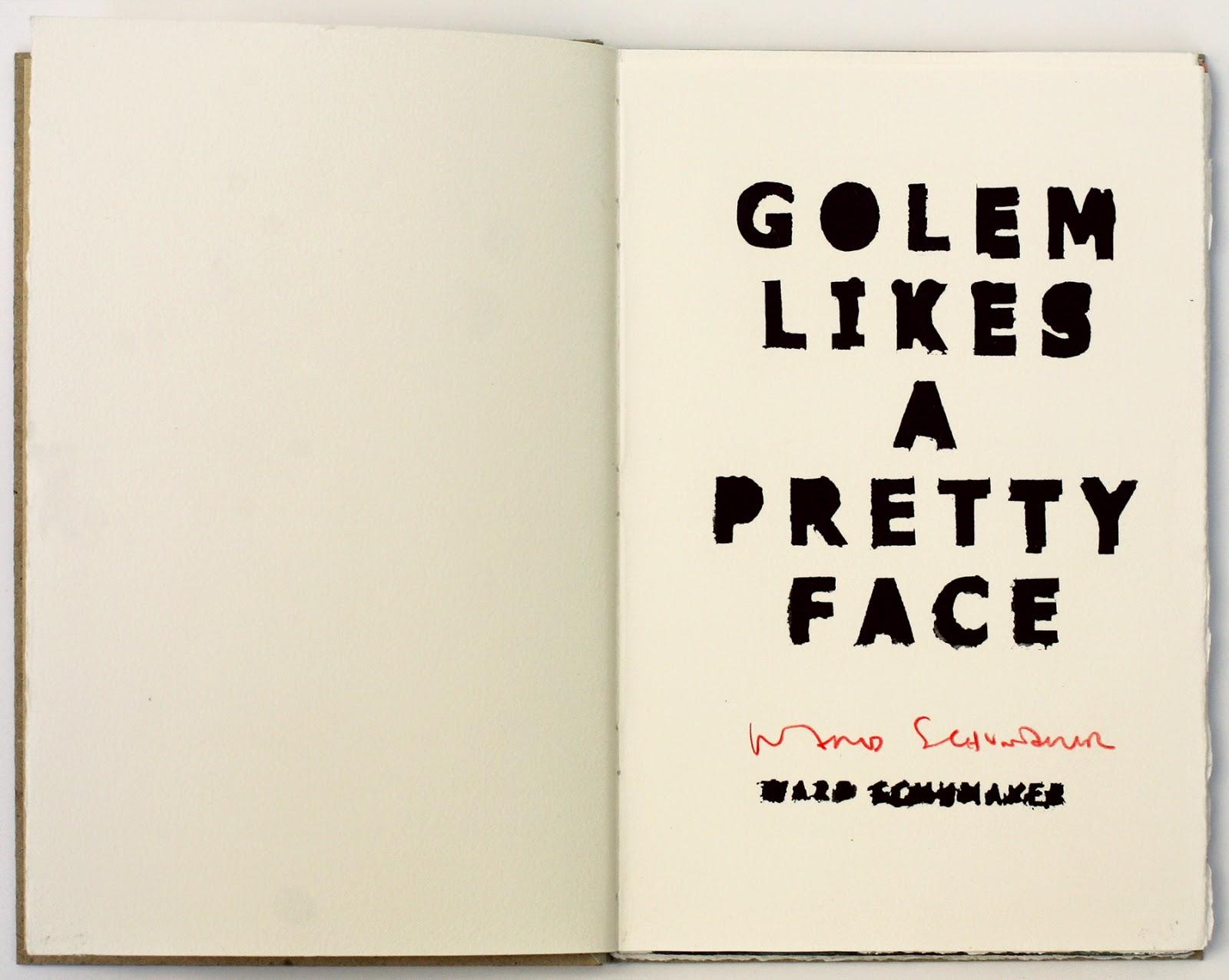 Golem Likes a Pretty Face, book, 2014