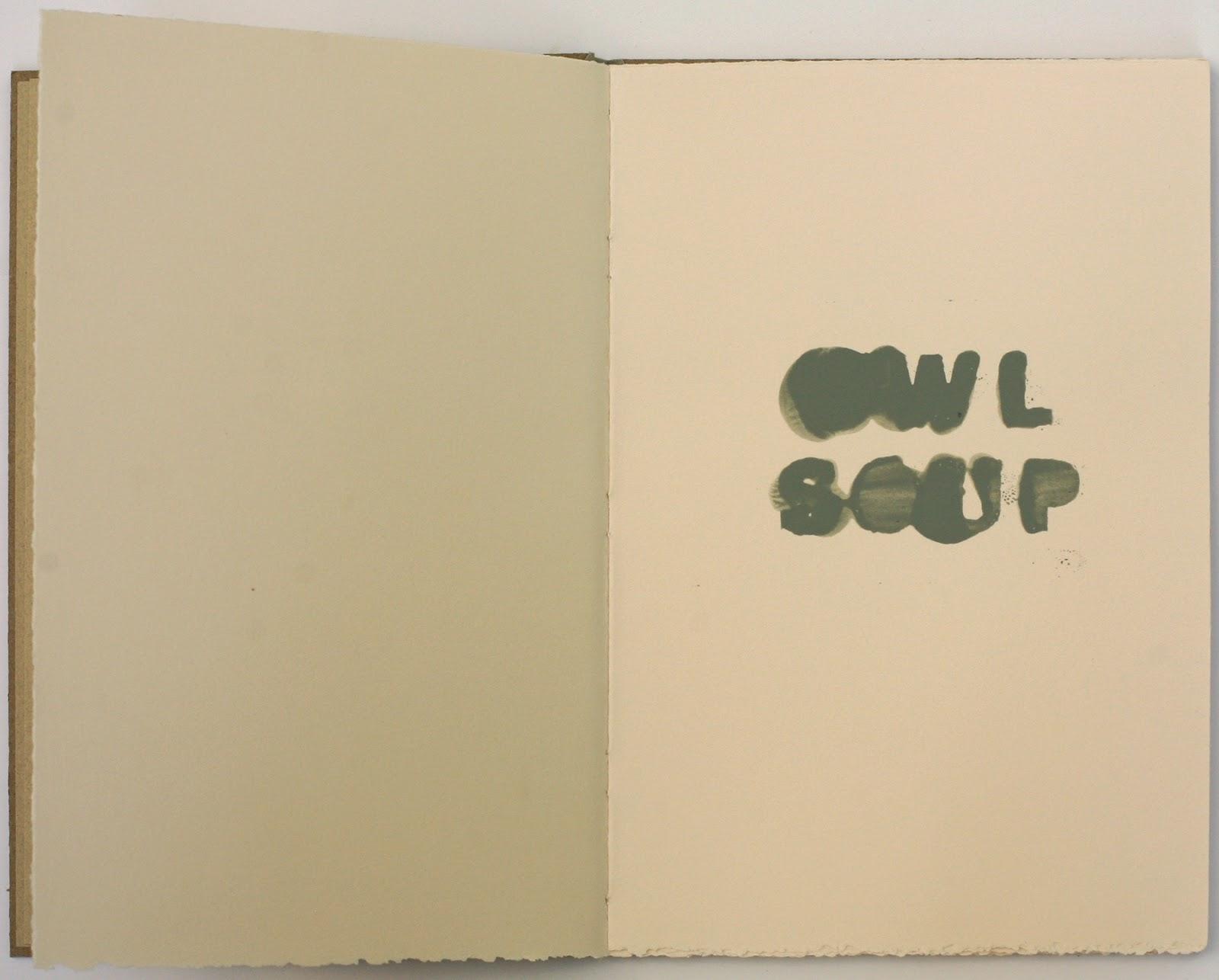 Owl Soup, book, 2014