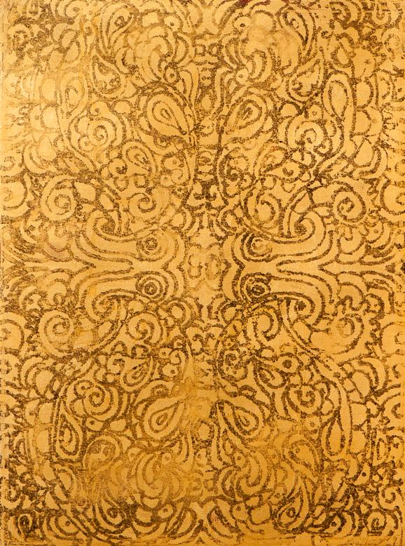 """Untitled, 22k/24k gold leaf, 15.75""""x12"""", 2013"""