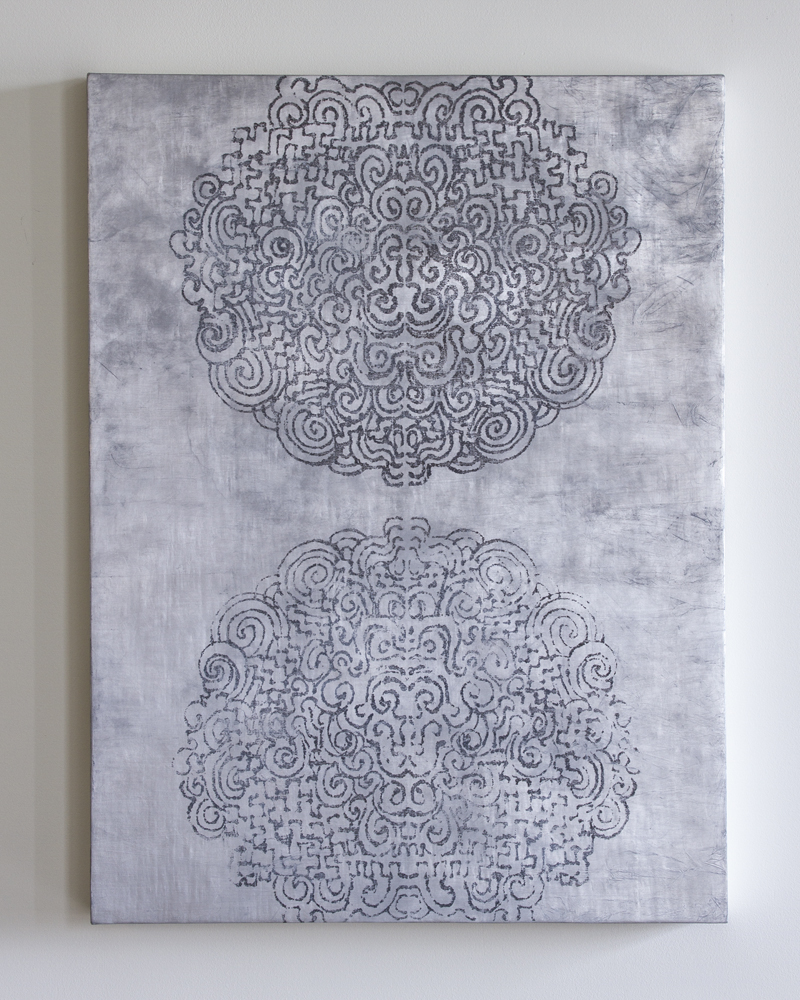 Untitled, oxidized aluminum leaf, 2012