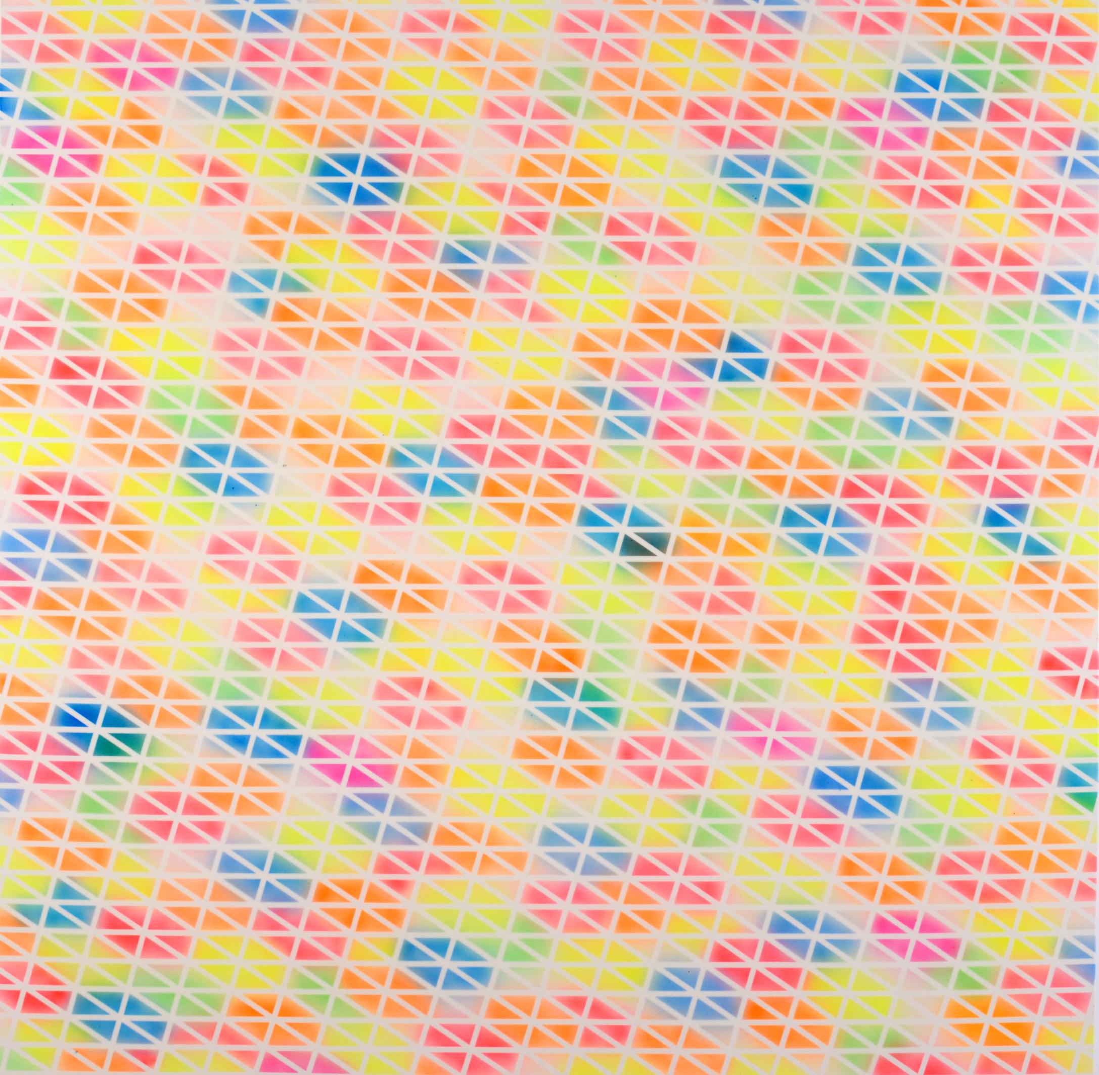 """Connect Four, 2014, acrylic on canvas, 48"""" x 48"""""""