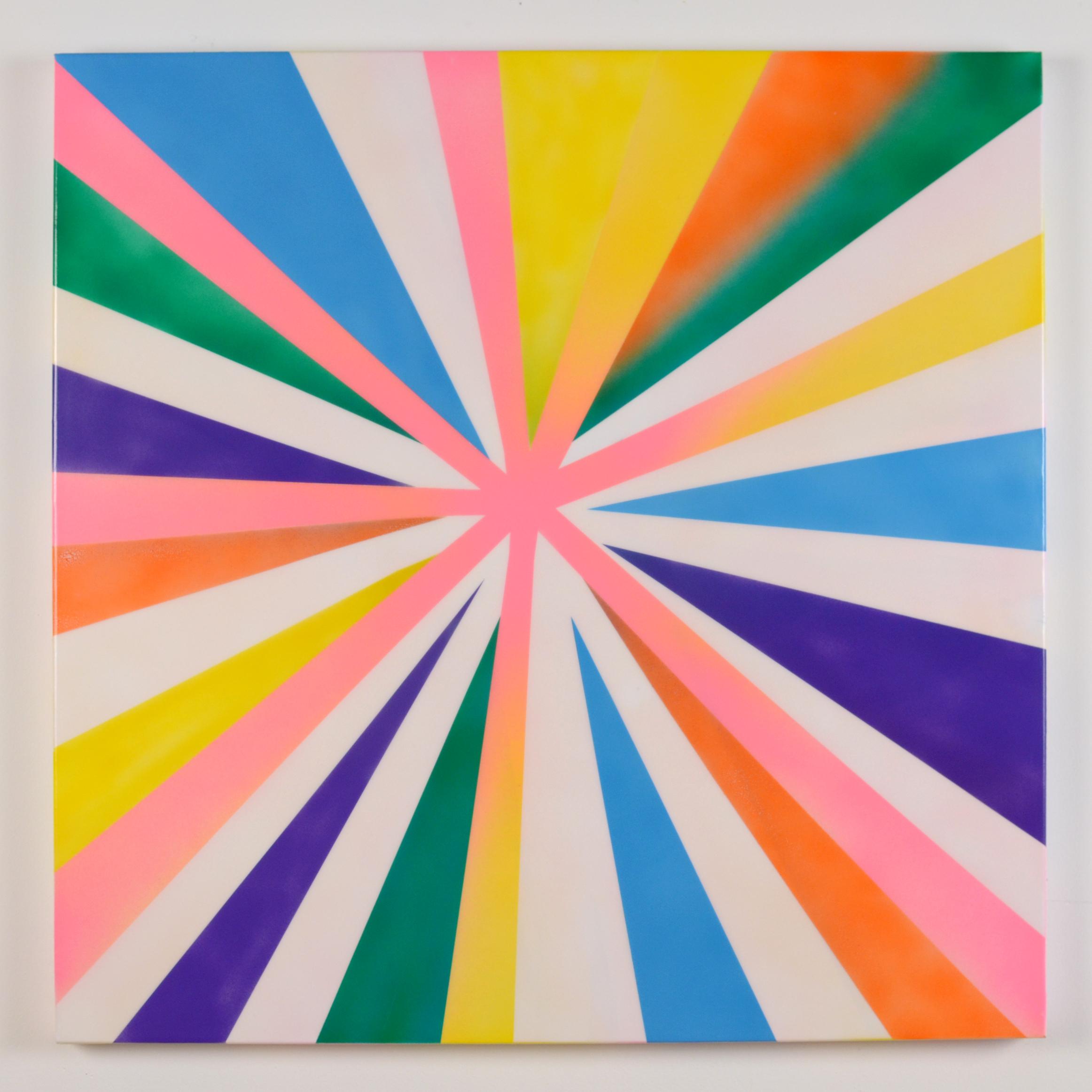 """Moon Flower, 2014, acrylic on canvas, 30"""" x 30"""""""