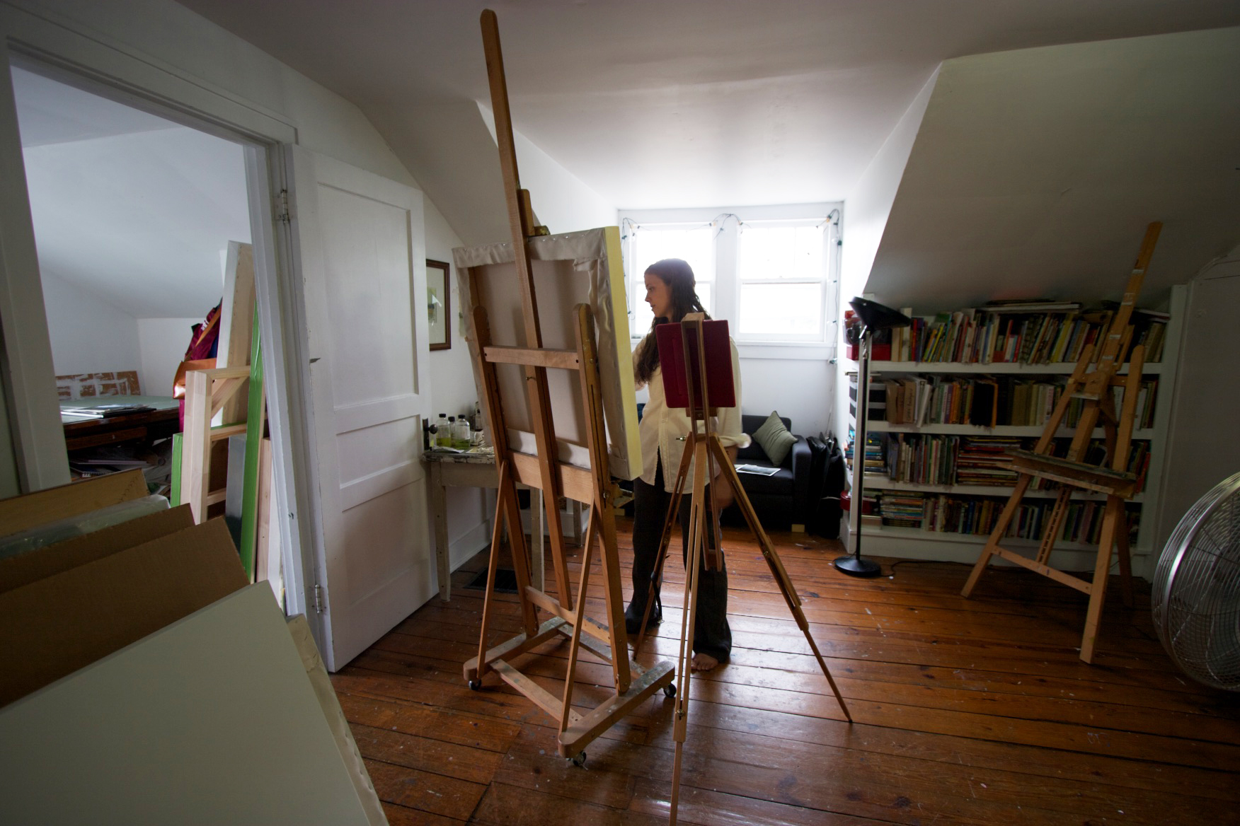 Megan Lightell in her studio