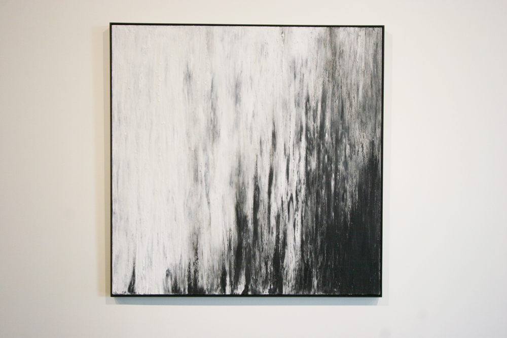 Seana Reilly - SlowSilence. Graphite, calcium carbonate, wax on aluminum panel.