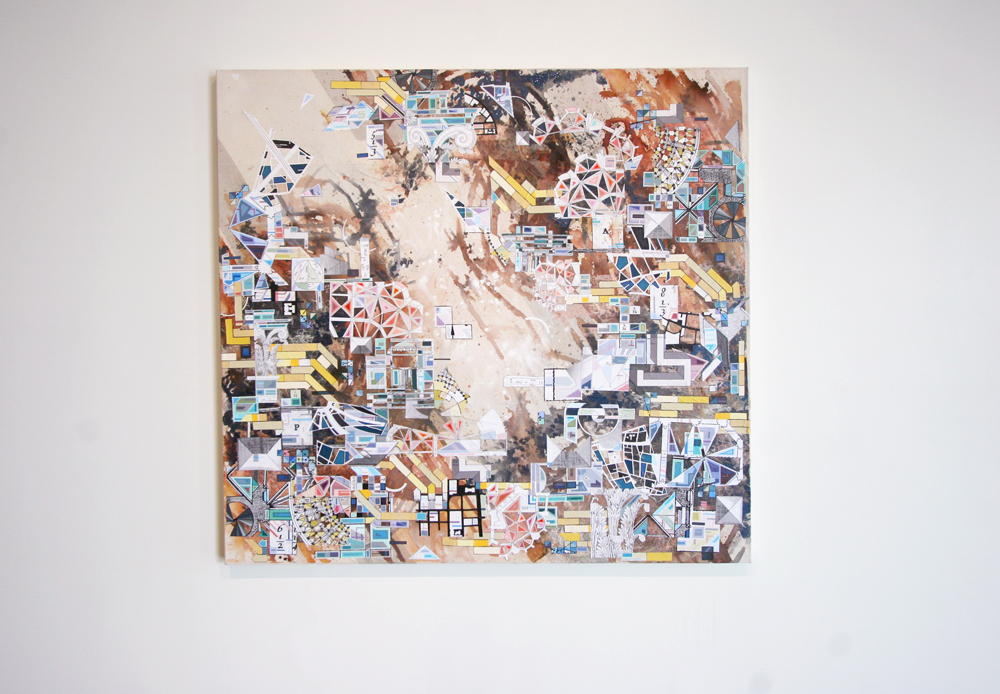 Eric Mack - RSRFC-7600. Mixed media on canvas.