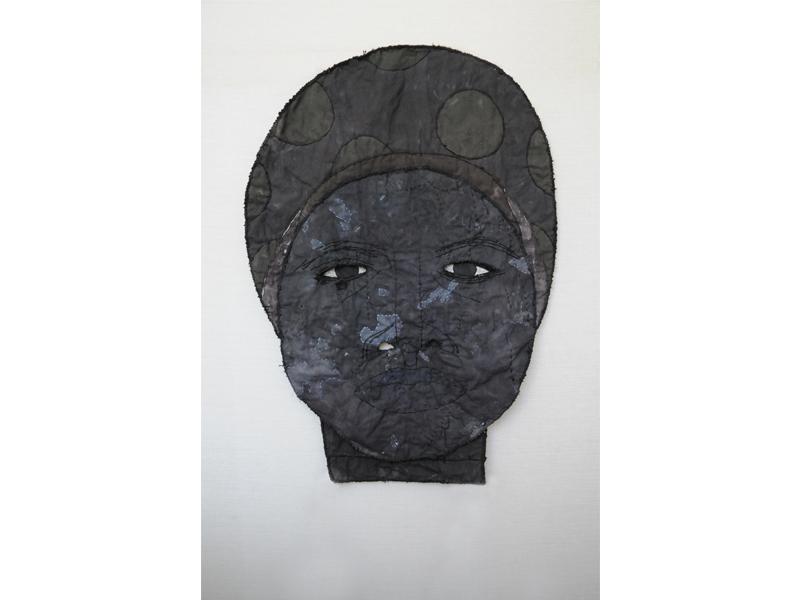 "untitled (woman)  2015, mixed media, 30 x 21.5"""
