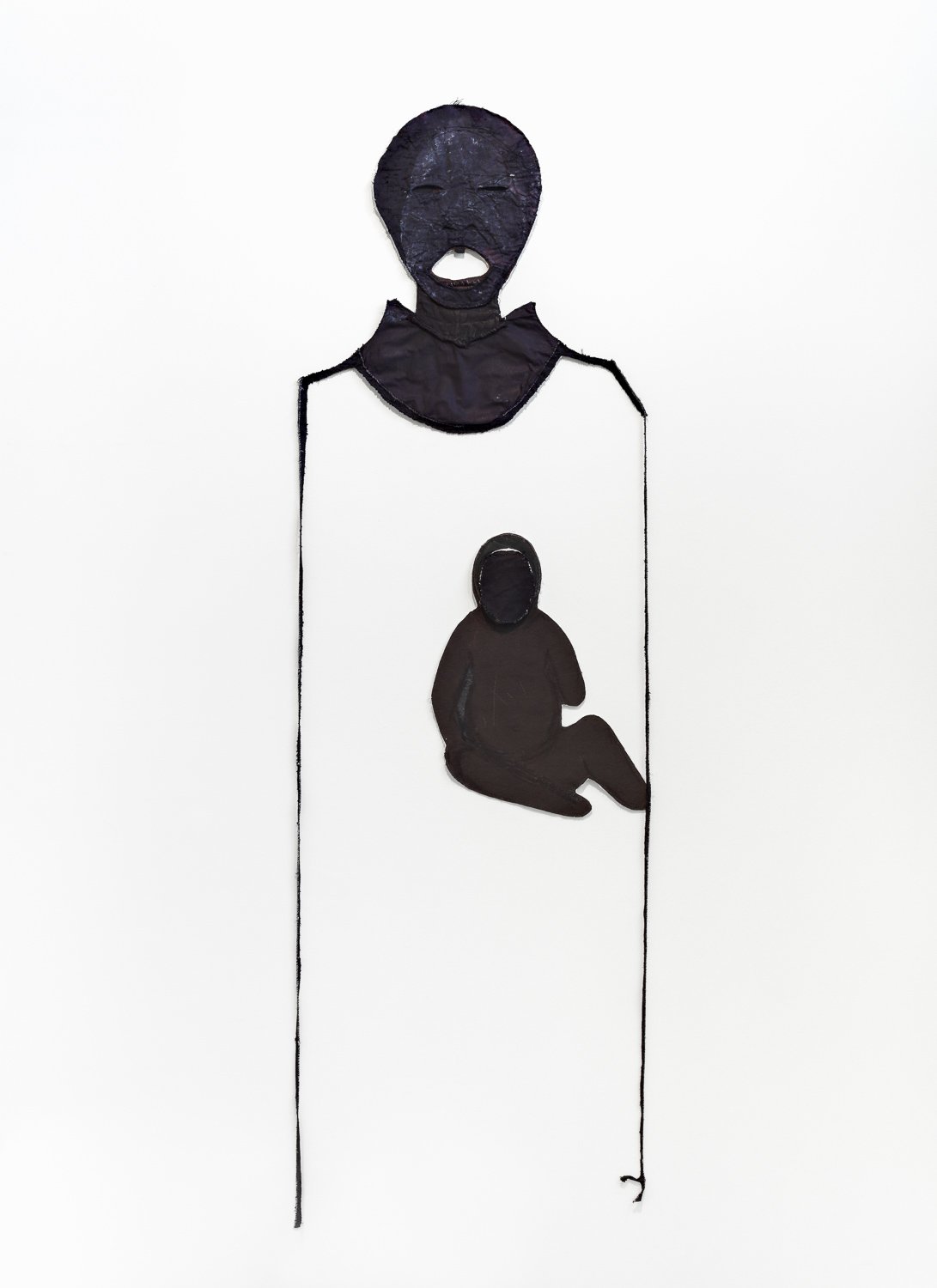 """untitled (Mother and Child)   2015, mixed media, 85 x 27"""""""