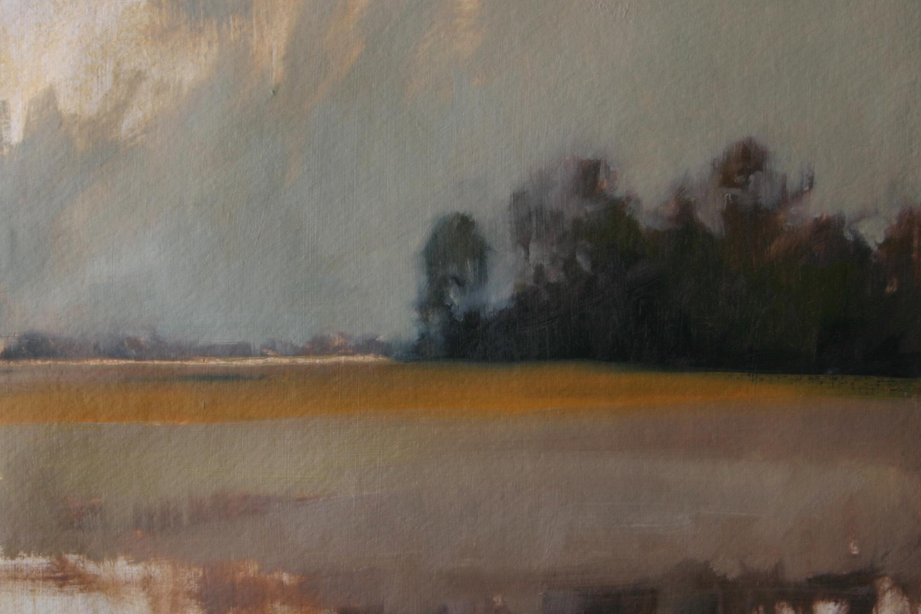 "Autumn Field 1, oil on paper, 7.5 x 11.5"""