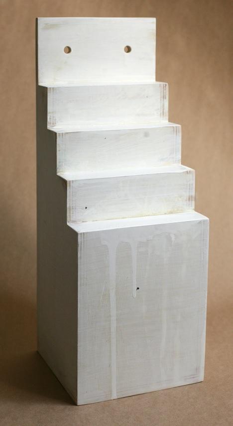 "White Mountain  2013, polychromed wood, 18 x 6.5 x 6.5"""
