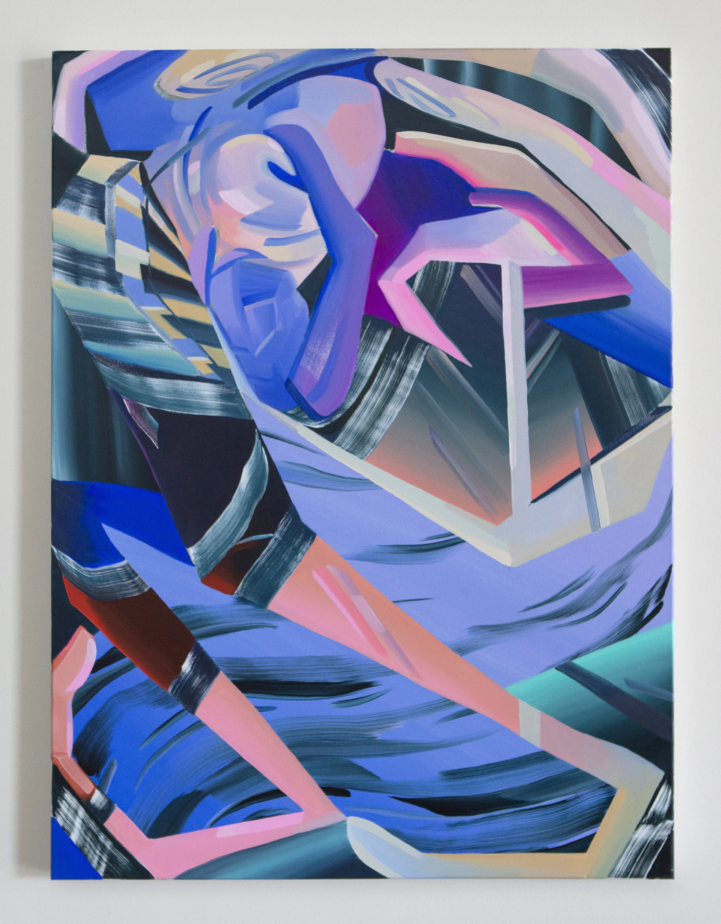 Night Walking (For Durga), 2017, oil on canvas, 48 x 36 inches
