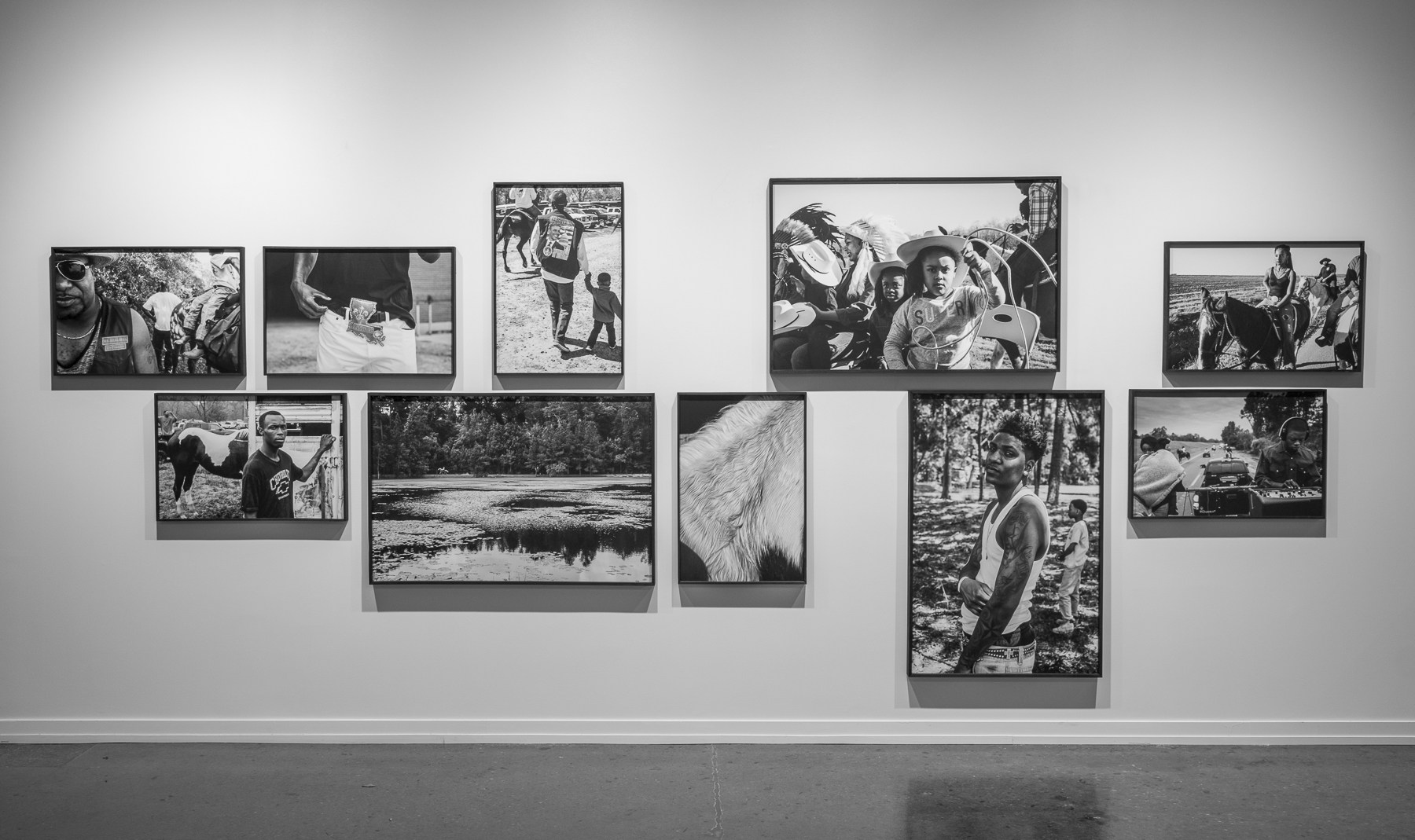 Jeremiah Ariaz, Louisiana Trail Riders, installation view