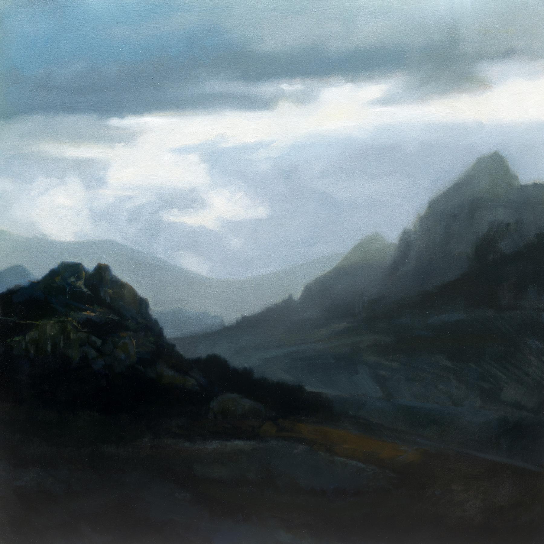 """Storm Over Jaén, 2017 Oil on canvas, 48: x 48"""""""