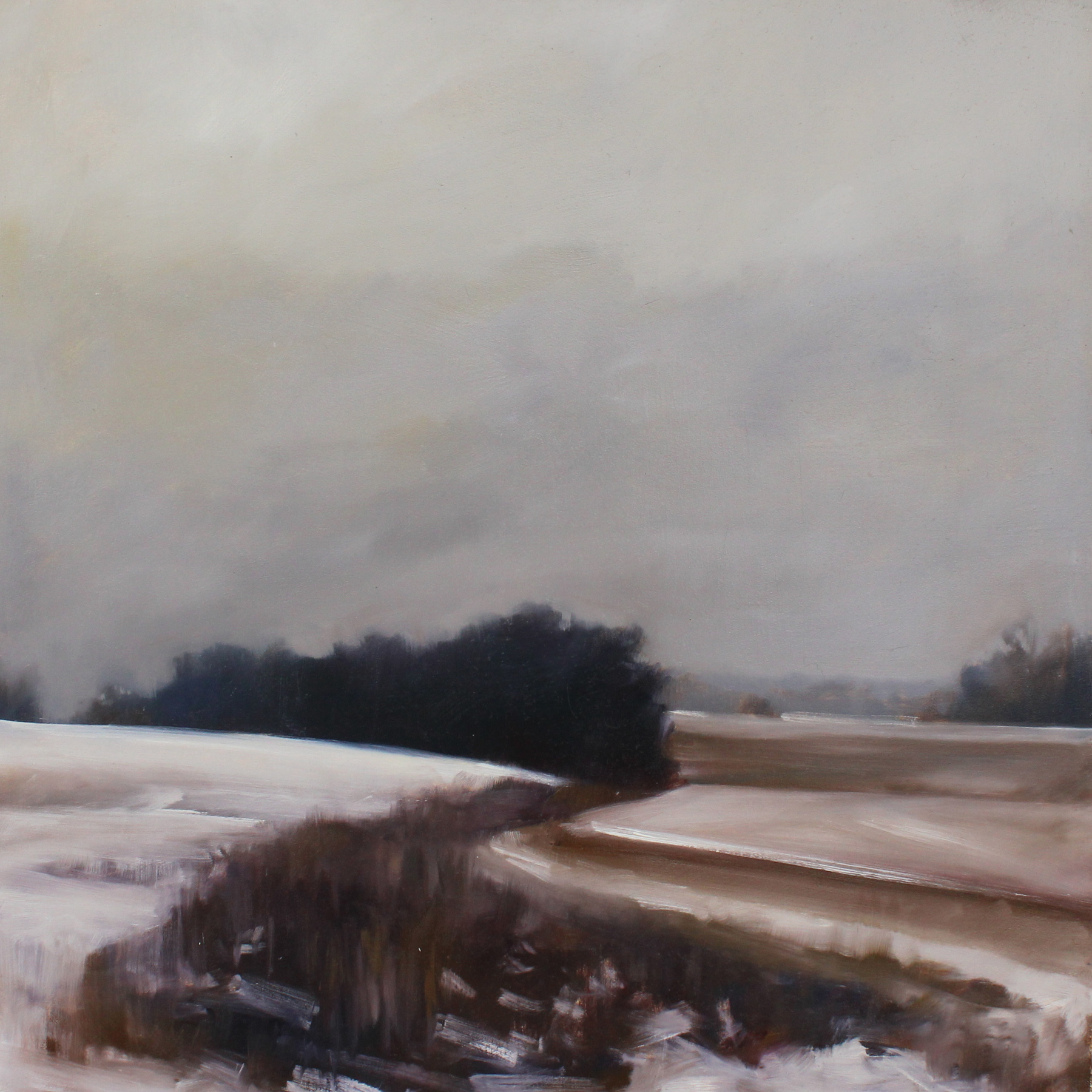 Light Snow  (study), oil on panel, 24 x 24 inches