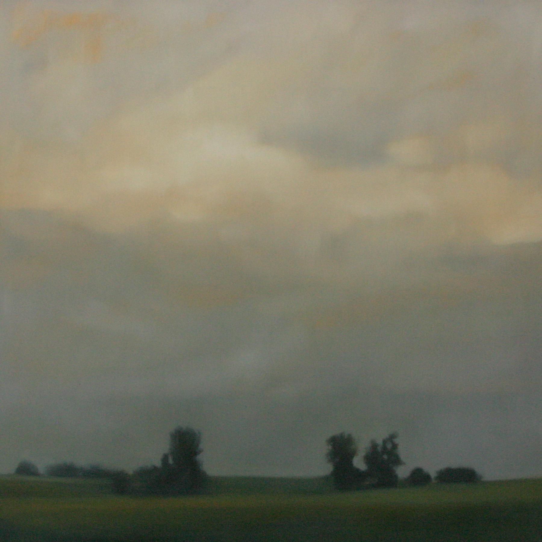 "Welcome Rain, oil on canvas 48""x48"""