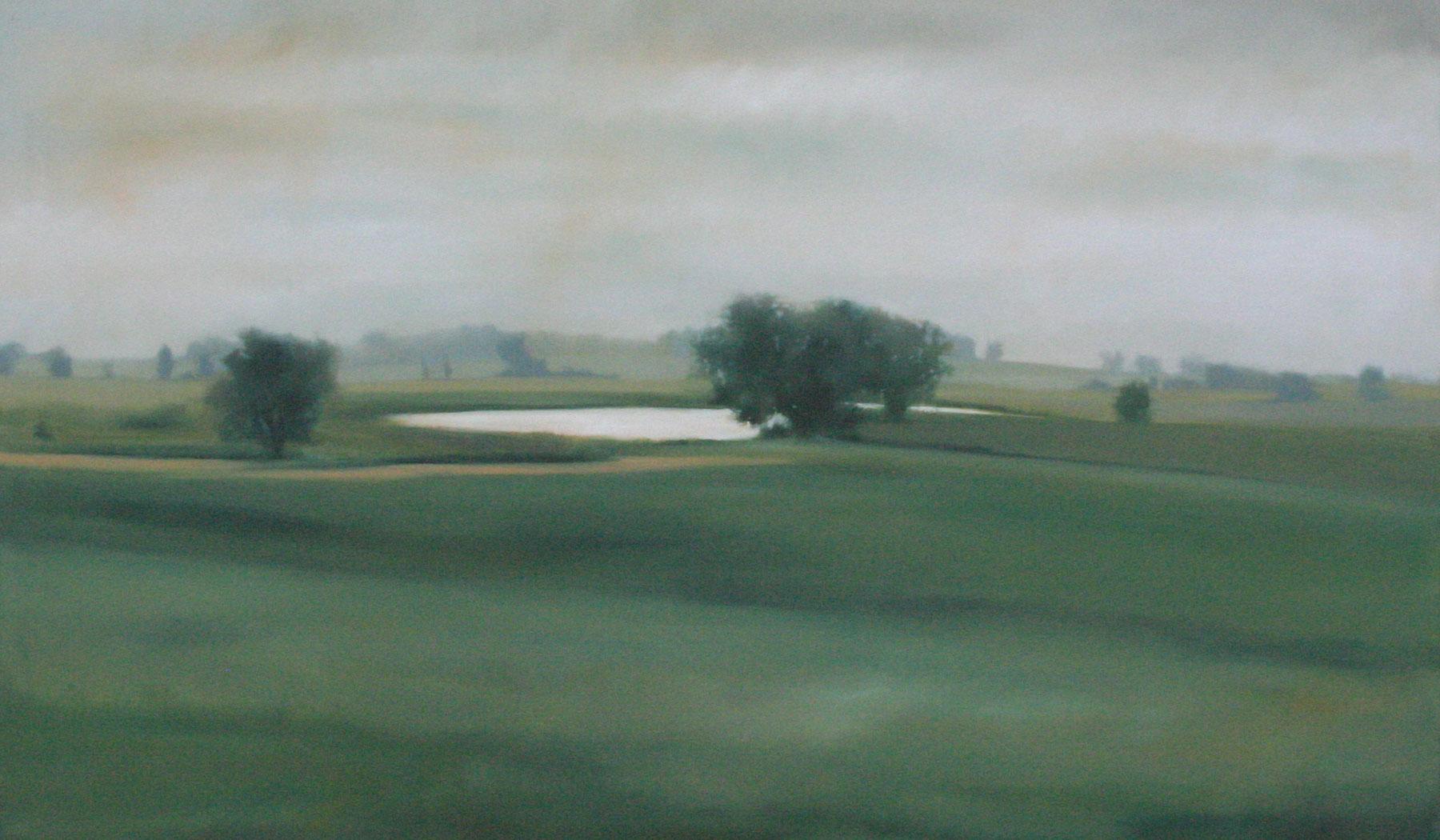 "Oasis,  oil on canvas, 36""x60"""