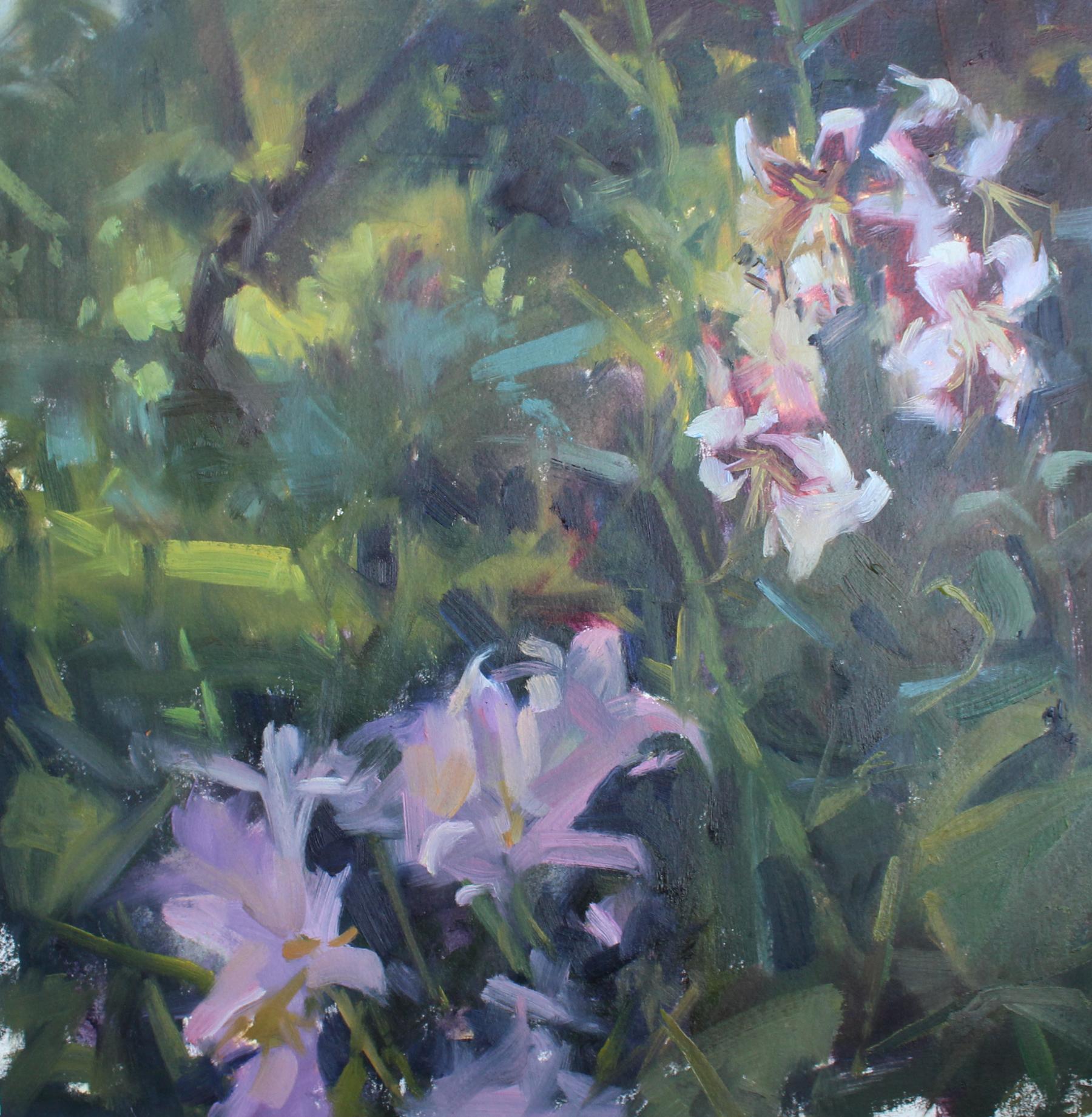 Berdelle Campbell Garden Field, oil on paper, 12 x 12 in