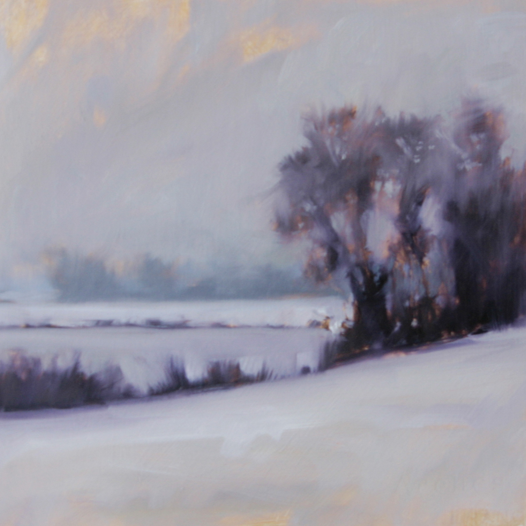 Winter study (trees), oil on paper, 10 x 10