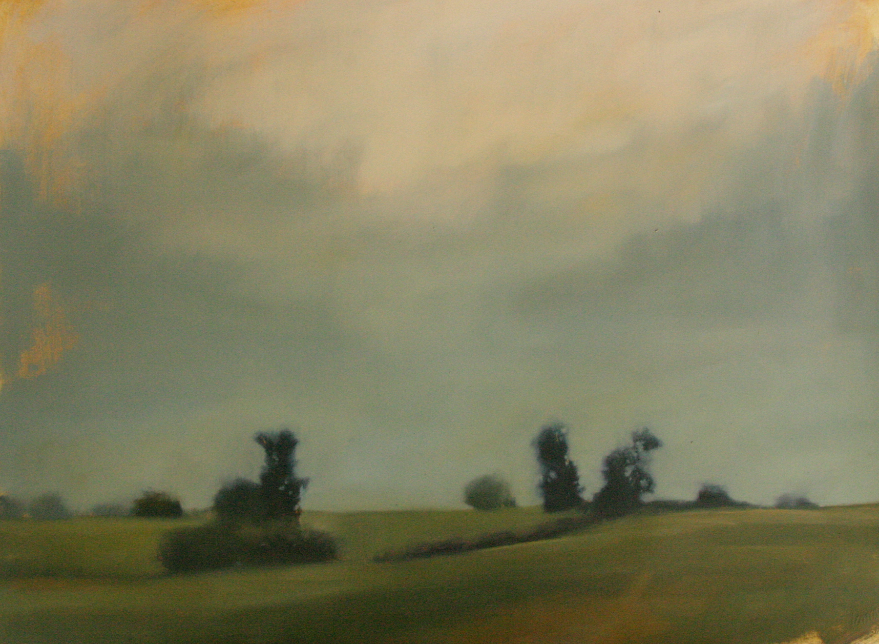"""Moving sky, oil on paper, 22 ¼"""" x 30"""""""