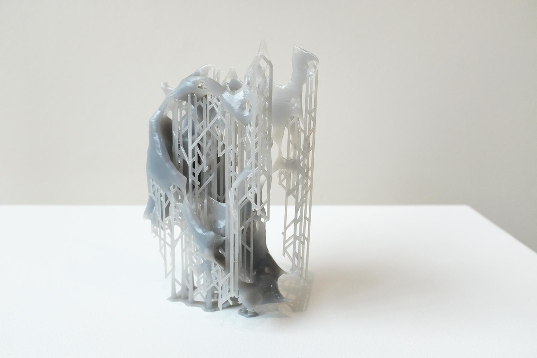 Guncotton 3D Print (Model 5), 2019, 6 x 4 x 4 inches