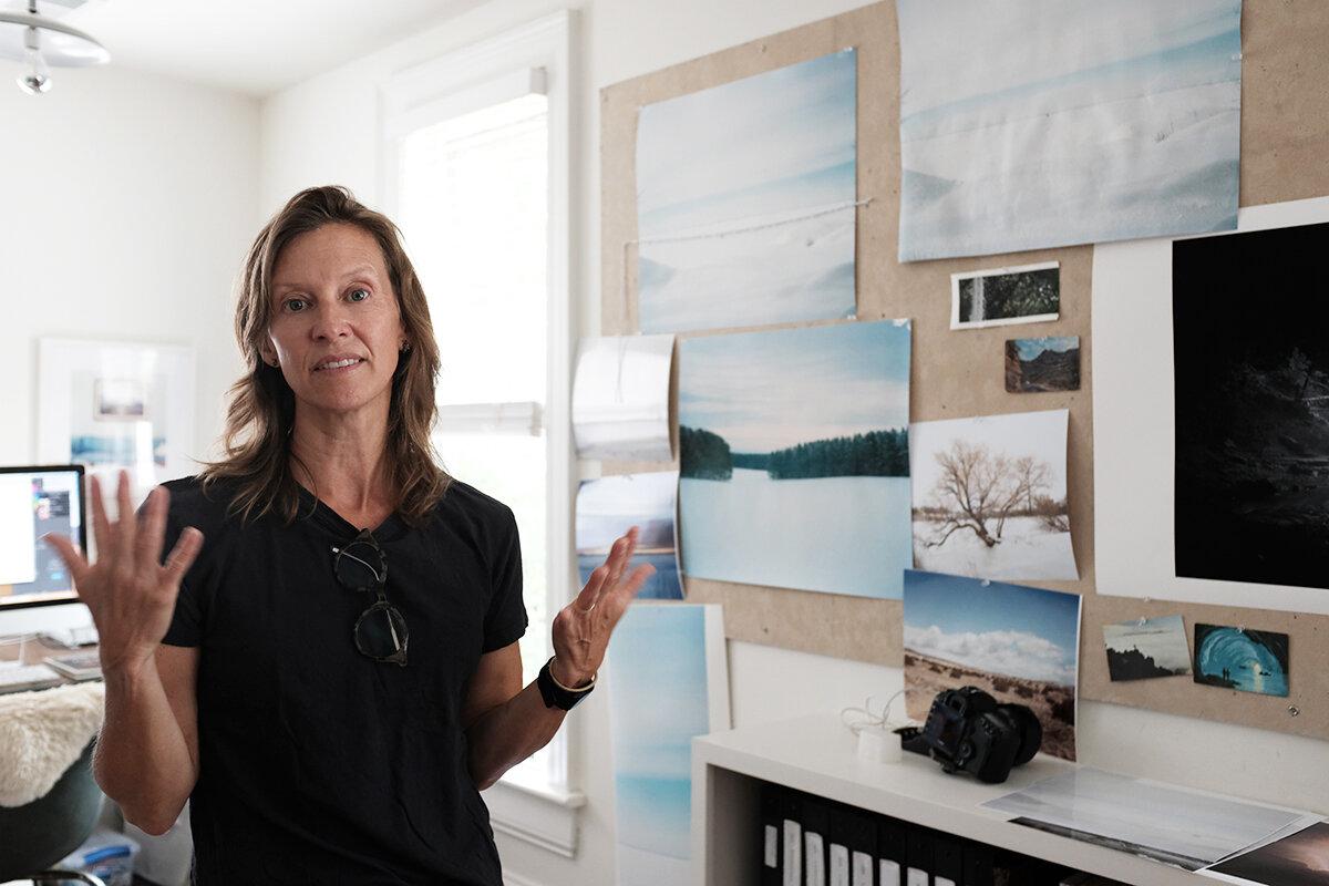 Caroline Allison in her home studio