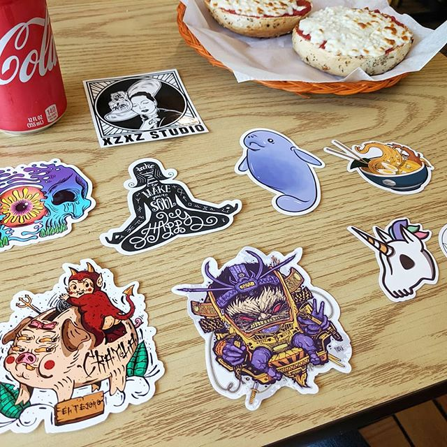 Ahhhhhh I was opening my mail while eating lunch and my manatee sticker was included in @stickerswaps may pack along with some other fantastic artists!!! @fiasco_art  @zotira_art  @blank.canvas.designz @ivanpaulucci @m.biaf.design @awkwardprints @dudenamedrezza @xzxzstudio ... ... ... #stickerslaps  #stickerlovers  #stickerlove  #art #illustrations #artwork #drawing #ink #inkstagram #tattooart #illustrator