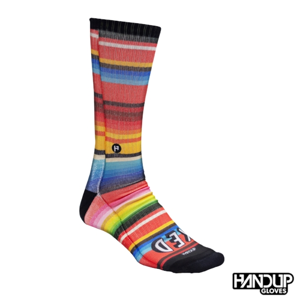 fun cycling socks handup foot down socks to match cycling gloves flamingo floral and serape (3).jpg