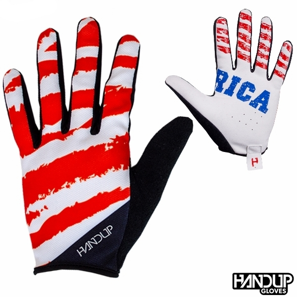 USA stars on one hand bars on the other mtb american flag cycling gloves long finger handup handsup gloves (3).jpg
