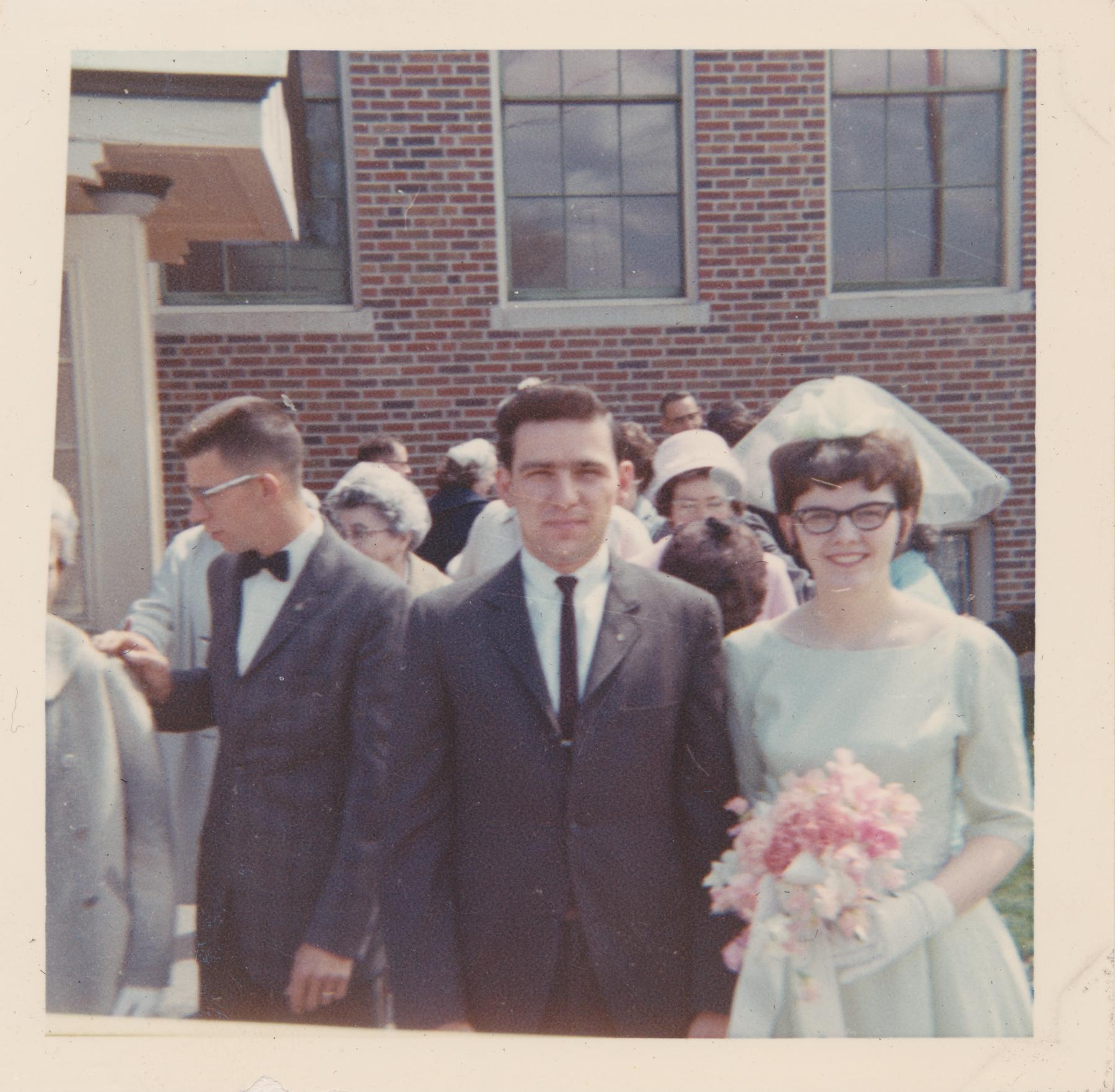Maid of Honor  Paula and Ray at Pat's wedding.