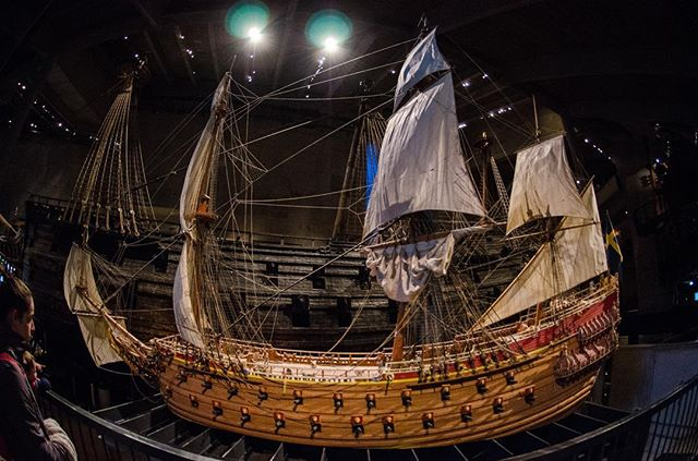 The Vasa, 17th Century Swedish warship. Not so great at floating, sank after 25 minutes or so. #sthlm #vasamuseet #fisheye